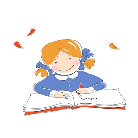 graduacion de ni�os: Colegiala con libro.