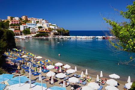 Seaview at Crete Island in summer Stock Photo