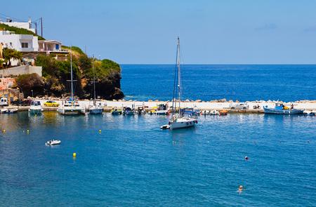 seaview: Seaview at Crete Island in summer Stock Photo