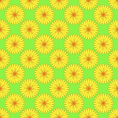 Neon green floral seamless pattern. Illustration