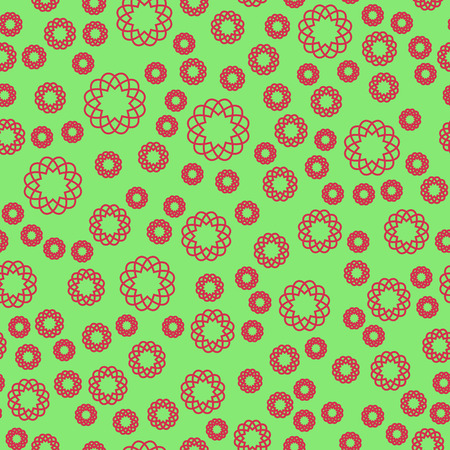 Abstract vector pattern on the green background Illustration