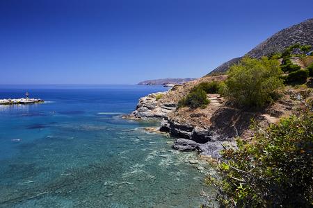 Seaview at Bali village, the Crete Island, Greece