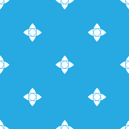 Geometry seamless pattern on the light blue background Stock Illustratie