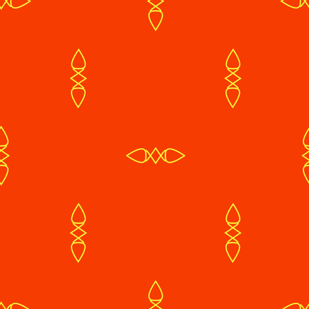 Seamless abstract vector pattern on the red background