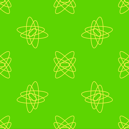 Seamless abstract vector pattern on the neon green background Stock Illustratie