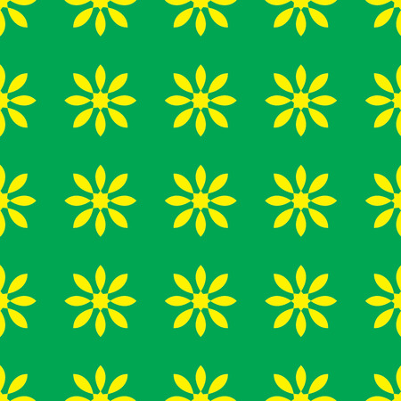 Floral pattern on the green background