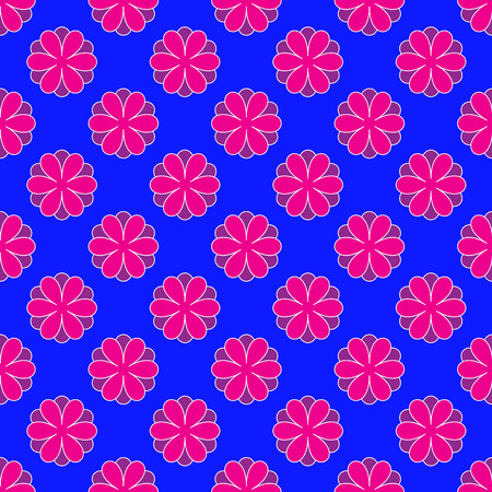 Floral pattern on the blue background