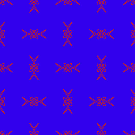 Seamless Pattern on the blue background