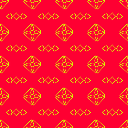 Seamless Pattern on the red background