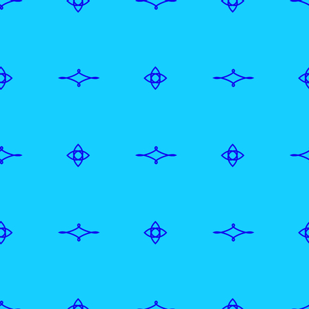 Seamless Pattern on the light blue background