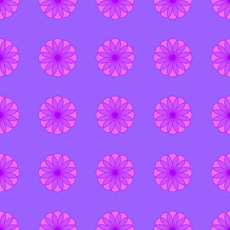 Abstract floral pattern on the violet background Stock Illustratie