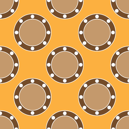 Seamless abstract pattern on the yellow background Stock Illustratie