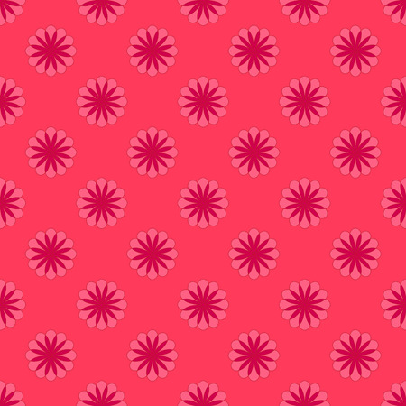Abstract floral pattern on the soft red background Stock Illustratie