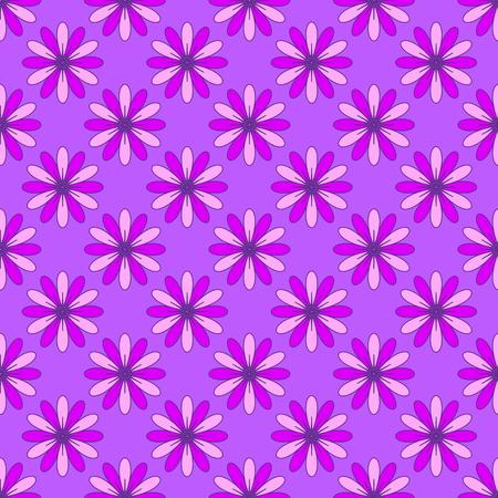Abstract floral pattern on the purple background