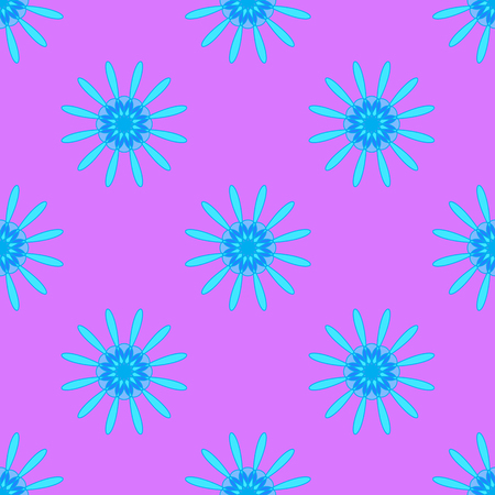 Abstract floral pattern on the pink background
