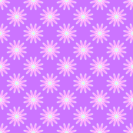 Abstract floral pattern on the light violet background