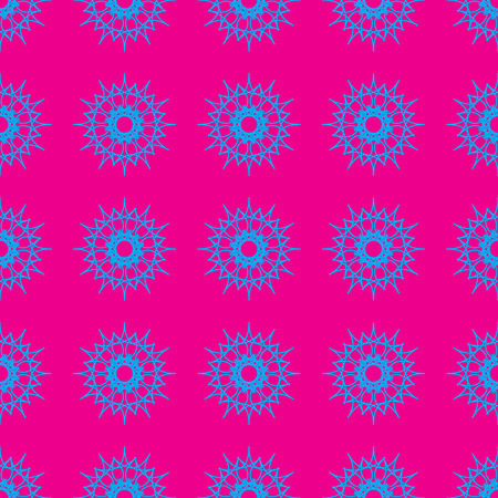 Abstract geometric pattern on the neon pink background