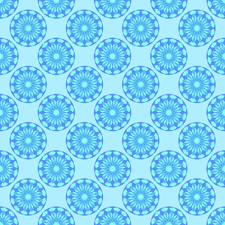 Abstract floral pattern on the light blue background