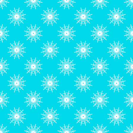 Abstract geometric pattern on the cyan background