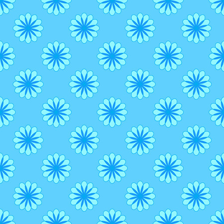 Abstract floral pattern on the cyan background Stock Illustratie