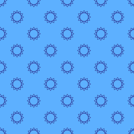 Abstract geometric pattern on the blue background