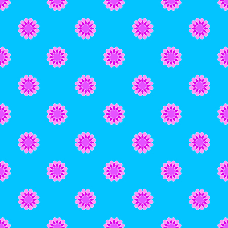 Abstract seamless pattern on the cyan background Stock Illustratie