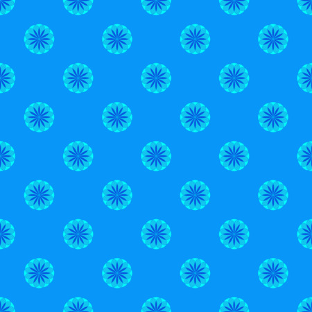 Floral seamless pattern on the blue background