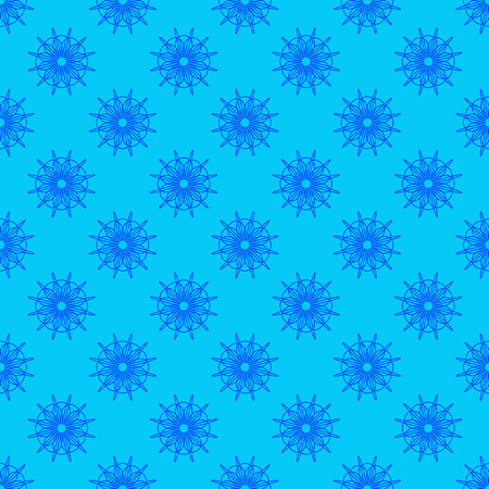 Abstract seamless pattern on the light blue background