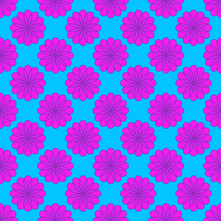 Floral seamless pattern on the light blue background Stock Illustratie