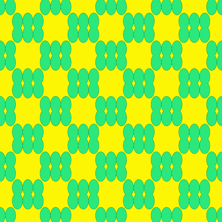 Abstract seamless pattern on the neon yellow background