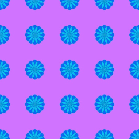 Floral seamless pattern on the pink background Vetores