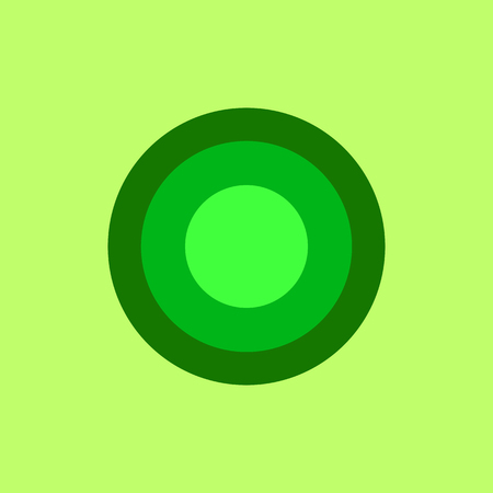 Three colour circle on the yellowish background