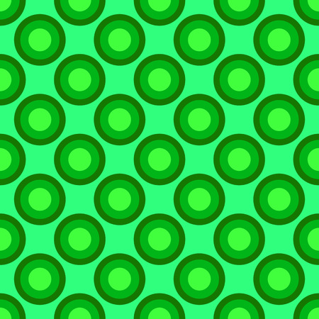 Circle seamless pattern on the light green background