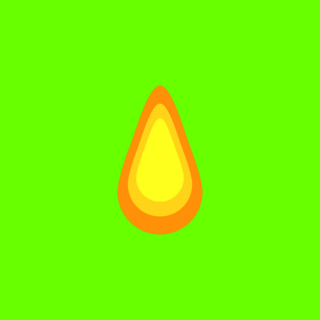 Honey tear at neon green background