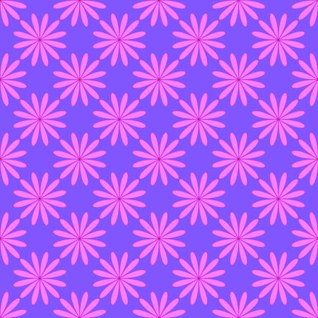 Floral seamless pattern on the light violet background Illustration
