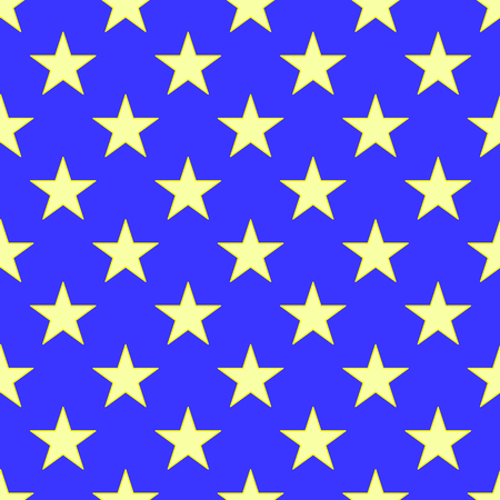Star seamless pattern on the blue background