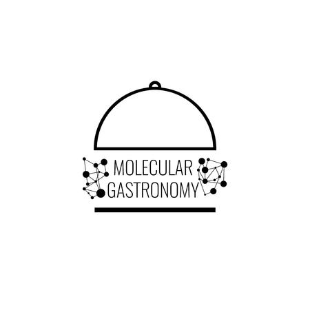 接続の背景を持つ分子ガストロノミーのロゴ。