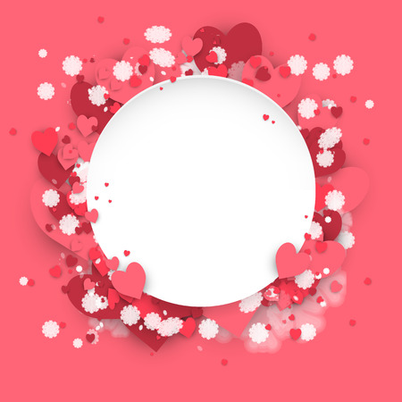 Hearts dust abstract St. Valentines Day background Illustration