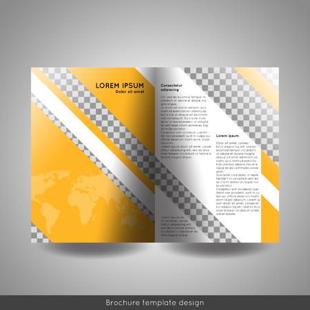 Bi-fold business brochure template vector design.