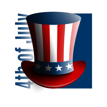 federal election: Uncle Sams hat. Symbol of freedom and liberty. Stock vector Illustration