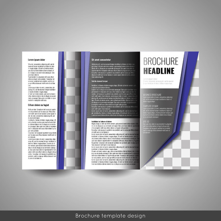 Corporate Tri Fold Brochure Template Design Annual Report