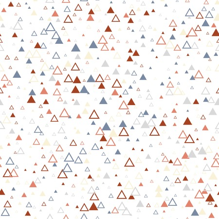 Scandinavian triangles seamless pattern. Geometric texture background.  イラスト・ベクター素材