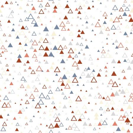 Scandinavian triangles seamless pattern. Geometric texture background. Illustration