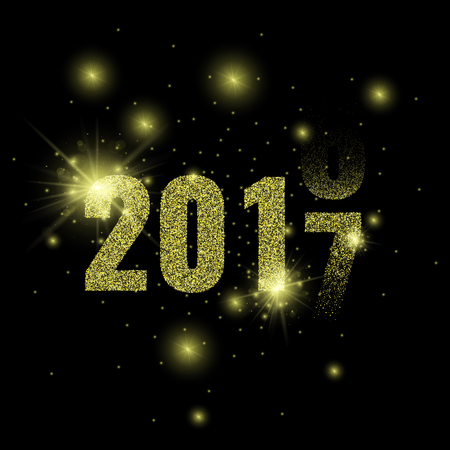 golden glitter new year party background stock vector 78685507