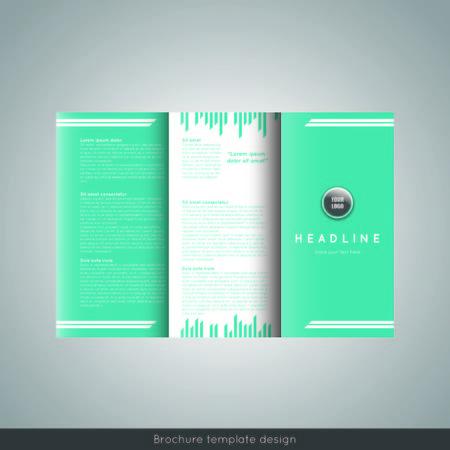 Tri-fold brochure template design. Corporate booklet.