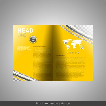Bifold business brochure template design.