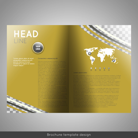reference: Bifold business brochure template design.