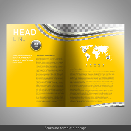 Bifold business brochure template design.