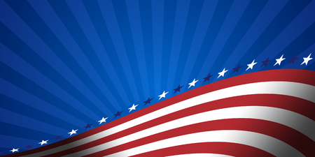 American flag vector background for Independence Day and other events. Illustration
