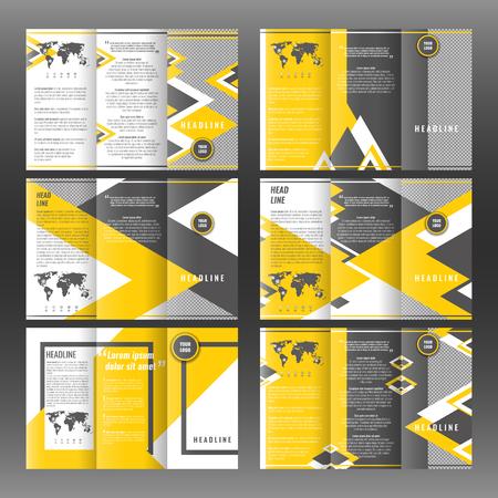 catalog: Trifold business brochure template design